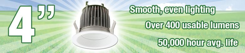 4 LED Designer Trims - Air Tight Rated