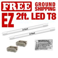 EZ T8 LED 2' Kits