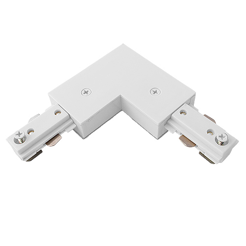 TLSK108-AWH L-Connector Track Lighting Power Feed