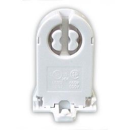 Fluorescent tall non-shunted rotary lock medium bi-pin snap in with nib socket for T8 LED  lamps