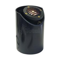 Landscape lighting MR16 adjustable sleeve grill cast aluminum well light