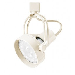 Par 30 adjustable white high tech wire line voltage track light fixture