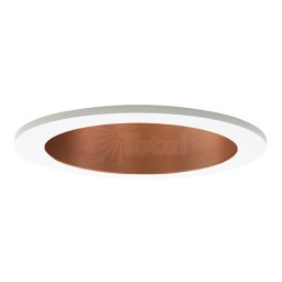 "4"" Recessed lighting LED retrofit copper reflector white trim"