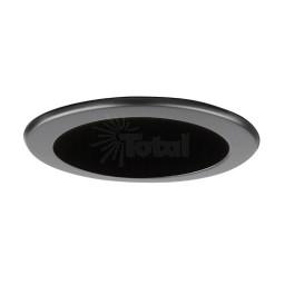 "4"" Recessed lighting LED retrofit black reflector black trim"