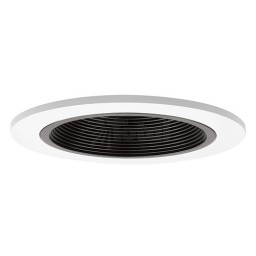 "4"" Recessed lighting LED retrofit black baffle white trim"