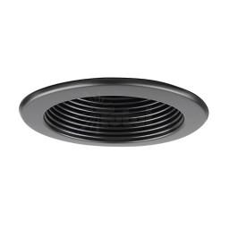 "6"" Recessed lighting 14watt LED retrofit black baffle black trim"