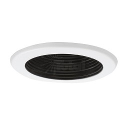 "6"" Recessed lighting 14watt LED retrofit black baffle white trim"