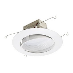 "6"" dimmable adjustable LED recessed lighting retrofit white baffle eyeball trim for flat ceilings"