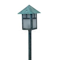 Landscape lighting low voltage lantern path light