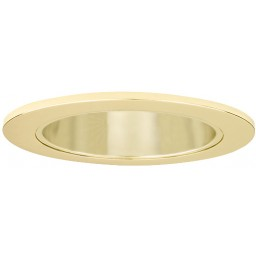 6 led recessed lighting gold reflector polished brass trim 14watt