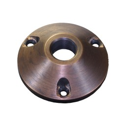 Solid Brass Surface Mount round bracket for outdoor landscape lighting fixtures