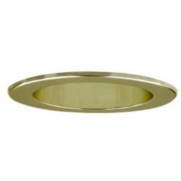 "5"" Recessed lighting LED retrofit reflector gold polished brass"