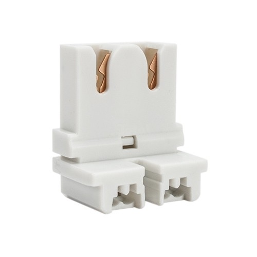 Fluorescent Non Shunted Short Low Profile Straight Insertion Medium Bi Pin Slide On Socket For T8 Led Lamp Conversions