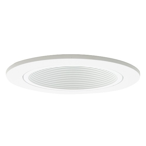 4 recessed lighting led retrofit white baffle white trim