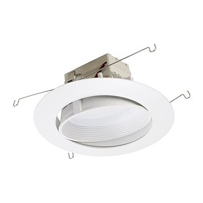 6  dimmable adjustable LED recessed lighting retrofit white baffle eyeball trim for flat ceilings  sc 1 st  Total Lighting Supply : recessed light baffles - www.canuckmediamonitor.org