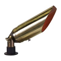 Landscape lighting adjustable hood bullet spot low voltage