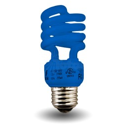 Blue Mini Spiral Compact Fluorescent - CFL - 13 watt