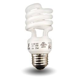 Mini Spiral Compact Fluorescent - CFL - 14 watt - 27K
