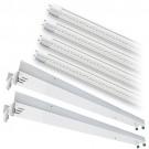 LED T12 8ft. CLEAR glass lens 4000K 4 lamp complete retrofit tube kit Natural White light