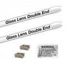 EZ LED T8 FROSTED glass retrofit kit fits 2 tube 4-foot light, Type-B, Double End 5000K Cool White Color