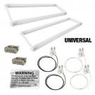 LED T8 Universal U-bend FROSTED lens 2 lamp complete retrofit kit 5000K Cool White light