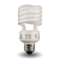Dimmable Spiral Compact Fluorescent - CFL - 13watt - 27K