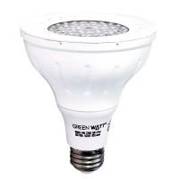 Green Watt PAR30D-9W-30KSS25 LED 9watt Par 30 Long Neck 5000K 25° Narrow Flood light bulb is dimmable