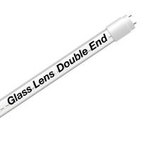 EZ LED T8 Double End Type B CLEAR glass lens retrofit tube, 18watt, 5000K Cool White Color