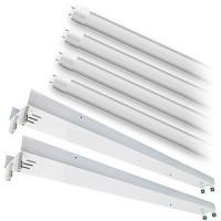 LED T12 8ft. FROSTED shatterproof glass lens 4000K 4 lamp complete retrofit tube kit Natural White light