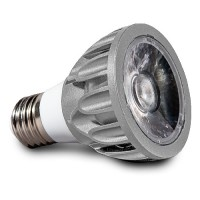 Architectural Grade LED PAR20 Light Bulb Narrow Flood 3000K Smart Dim Superior Color Rendering Silver SunLight2