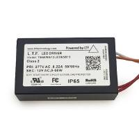 LTF LED 60watt no load electronic AC driver transformer 12VAC ELV dimmable 277volt input TE60WA12LED65B15