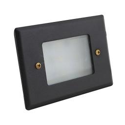 LED Outdoor landscape lighting black half brick step light 7110 series, natural white 4000K, low voltage 12volt