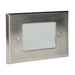 LED Outdoor landscape lighting stainless steel half brick step light 7110 series, cool white, low voltage 12volt