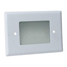 LED Outdoor landscape lighting white half brick step light 7110 series, natural white 4000K, low voltage 12volt