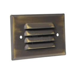 LED Outdoor landscape lighting architectural bronze half brick louver step light 7112 series, cool white, low voltage 12volt