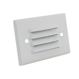 LED Outdoor landscape lighting white half brick louver step light 7112 series, natural white 4000K, low voltage 12volt