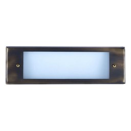 Outdoor low voltage architectural bronze rectangle surface brick step wall LED light kit