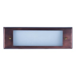 Outdoor low voltage antique bronze rectangle surface brick step wall LED light kit