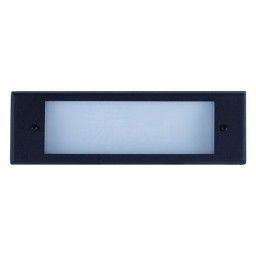Outdoor low voltage black rectangle surface brick step wall light 36watt kit
