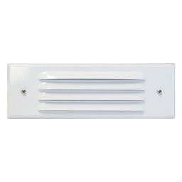 Outdoor low voltage louvered white rectangle surface brick step wall LED light kit