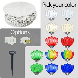 LED C7 Christmas string light white wire kit - Your Choice Color C7 Bulbs 1000ft