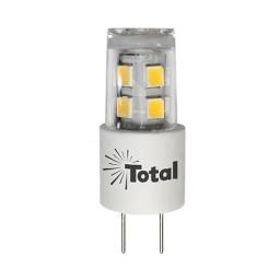 LED JC Style G4 bi-pin outdoor rated light bulb 3watt warm white 3000K 12volt AC