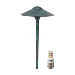 VERDE GREEN LED outdoor landscape lighting hat path light warm white