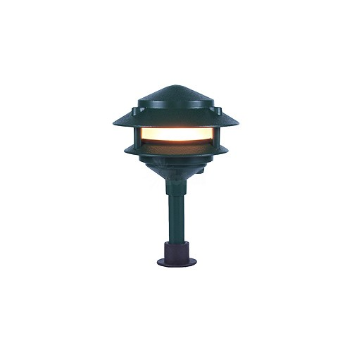 Landscape lighting low voltage two tier pagoda
