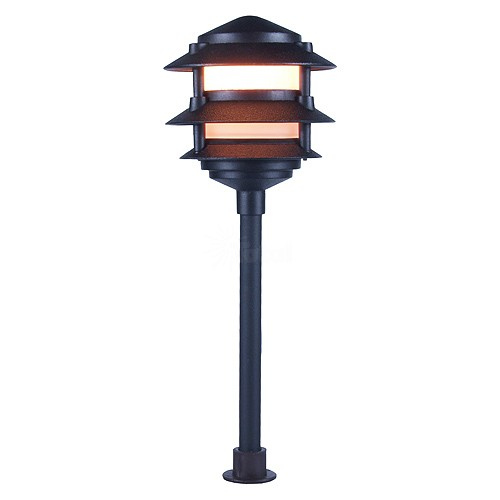 Landscape lighting low voltage frosted three tier pagoda light aloadofball Choice Image