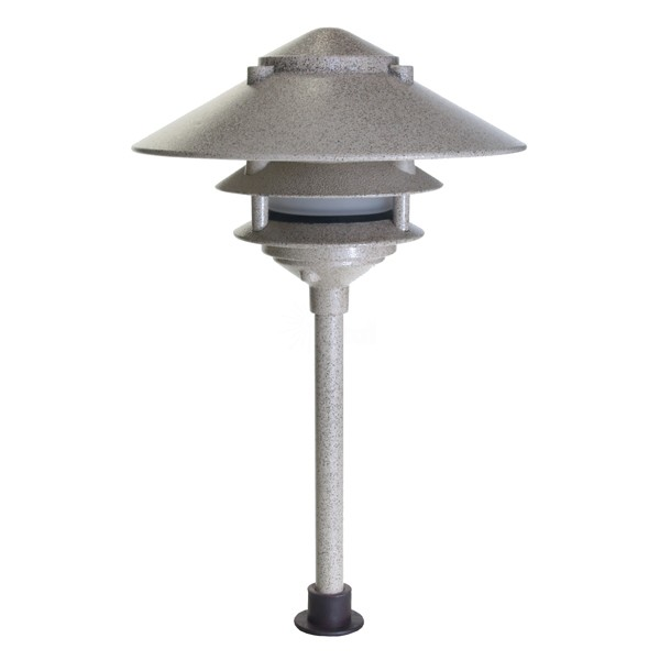Landscape lighting low voltage clear lens wide brim pagoda path light aloadofball Gallery