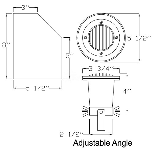 Landscape lighting mr16 adjustable sleeve cast brass well light aloadofball Image collections