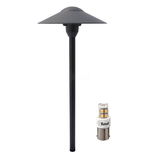 BLACK LED outdoor landscape lighting hat path light warm white Most Popular