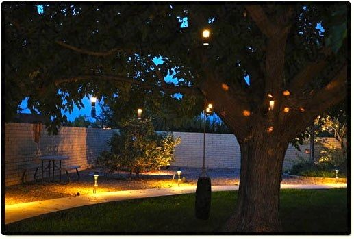 Landscape lighting outdoor low voltage flower hanging tree light workwithnaturefo