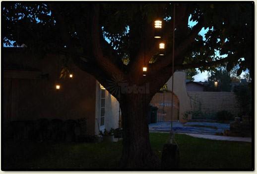 & Landscape lighting 9011-BK low voltage slotted hanging tree light